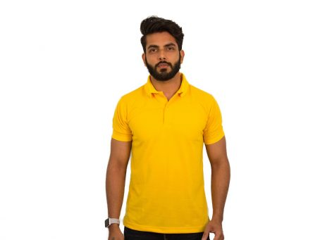 Gold Yellow Polo T-Shirts by UrbanPolo