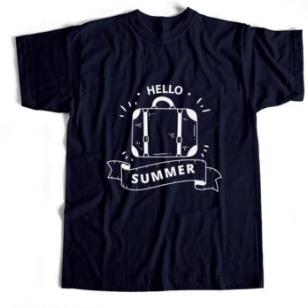 Hello Summer – Navy Blue – 100% Cotton