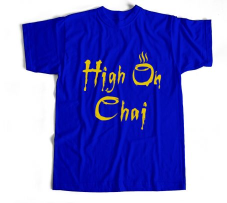 Tea Quotes T shirts Royal Blue Bio wash